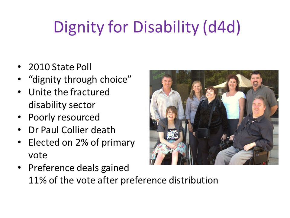 Dignity for Disability (d4d)