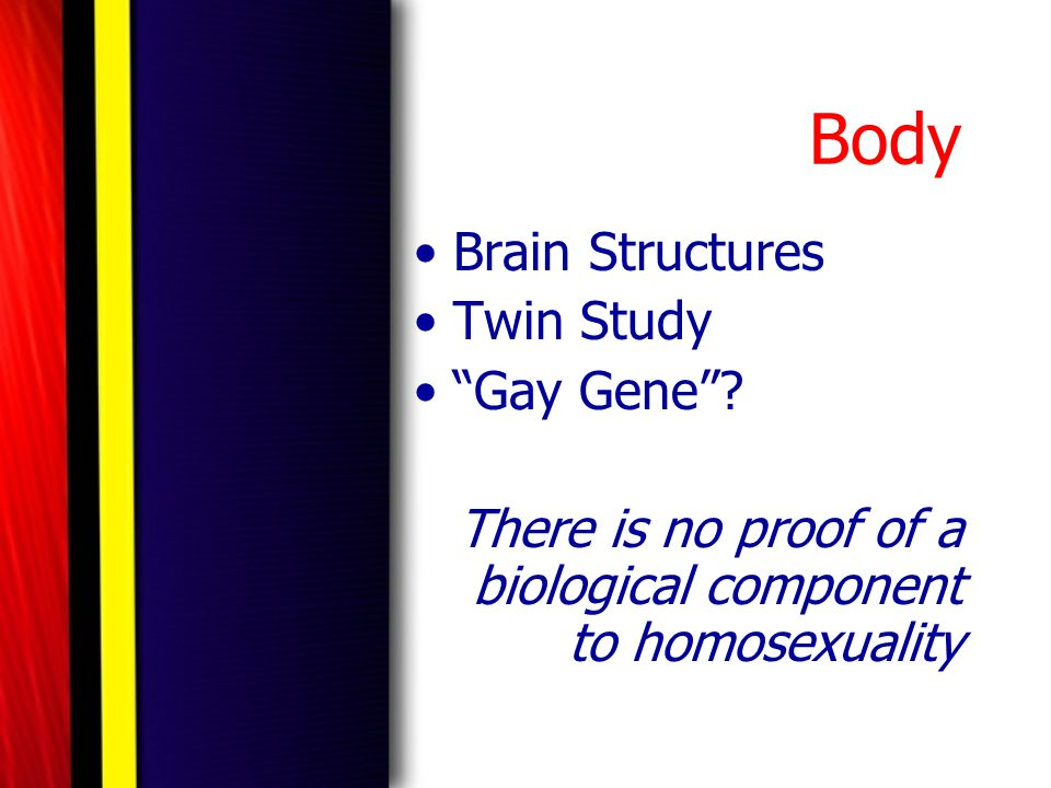 Body Brain Structures Twin Study Gay Gene