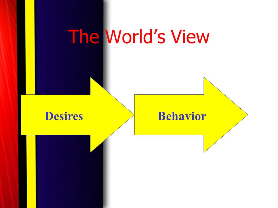 The World's View Desires Behavior