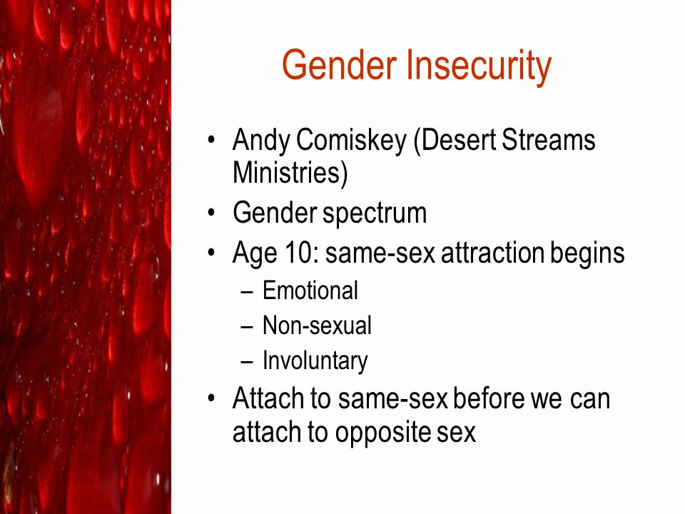 Gender Insecurity Andy Comiskey (Desert Streams Ministries)