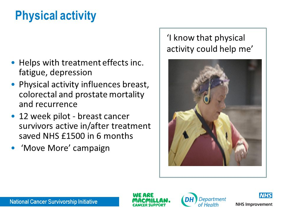Physical activity 'I know that physical activity could help me'