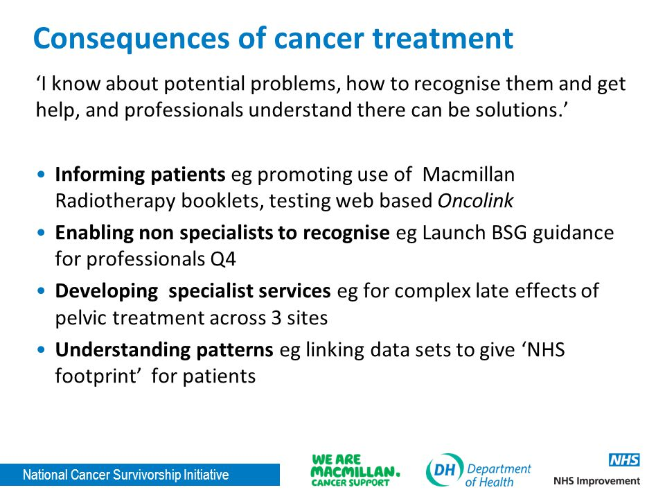 Consequences of cancer treatment