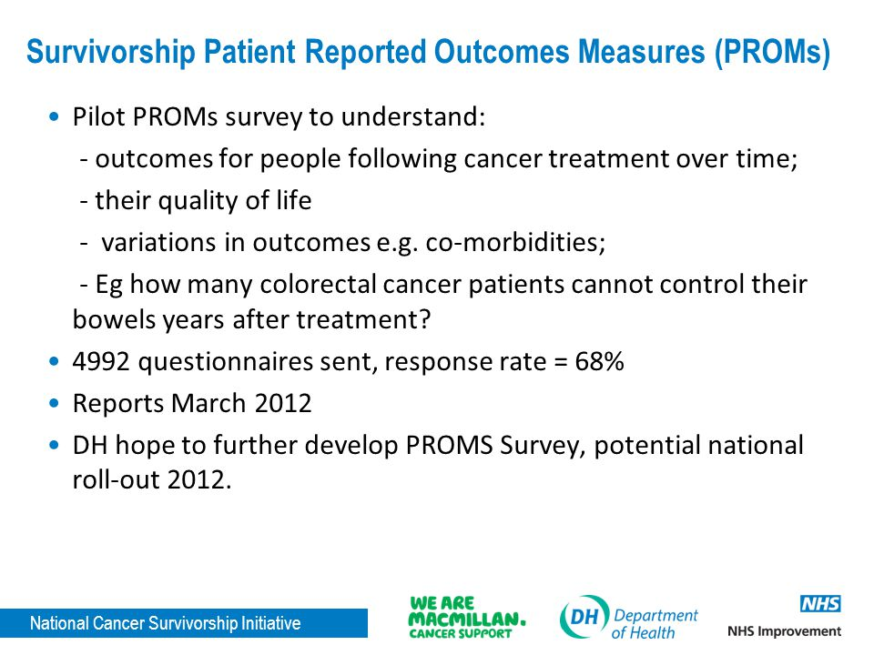 Survivorship Patient Reported Outcomes Measures (PROMs)