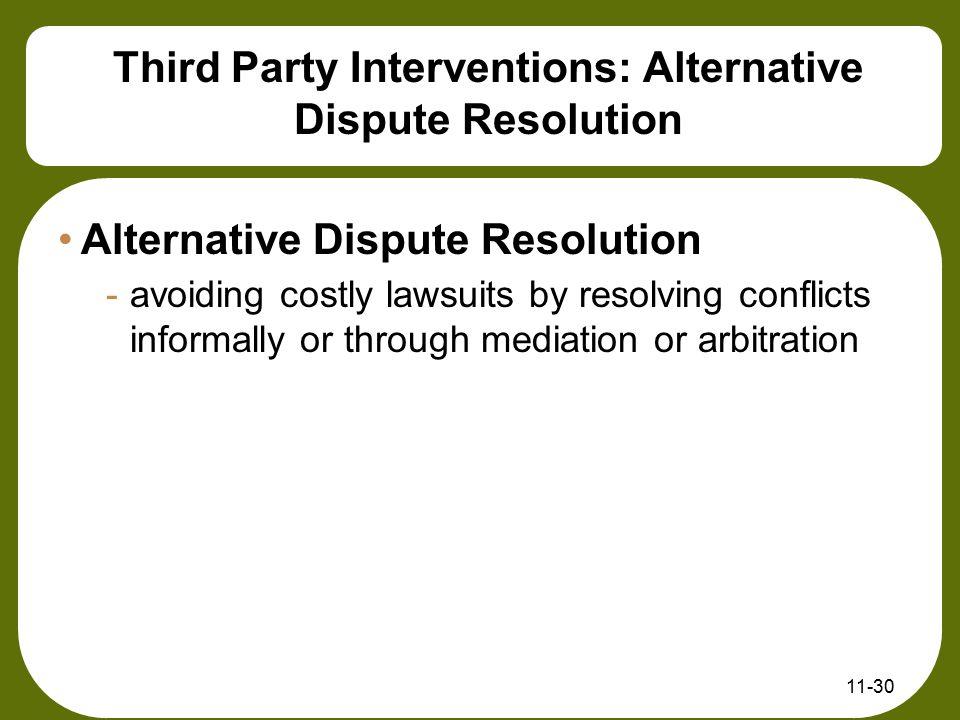 Third Party Interventions: Alternative Dispute Resolution