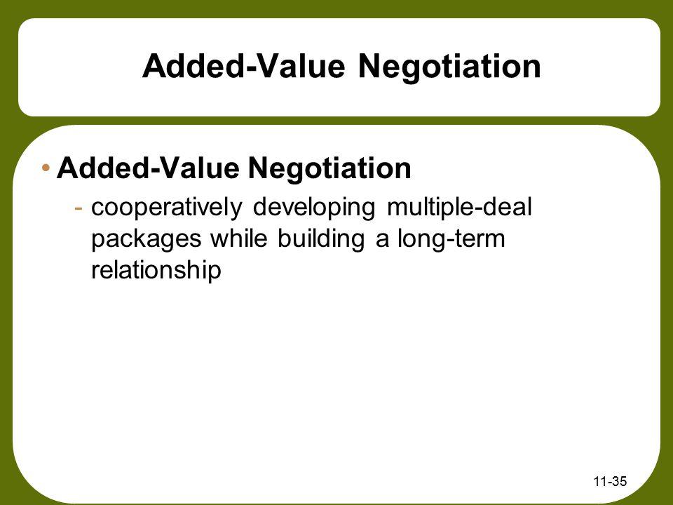 Added-Value Negotiation