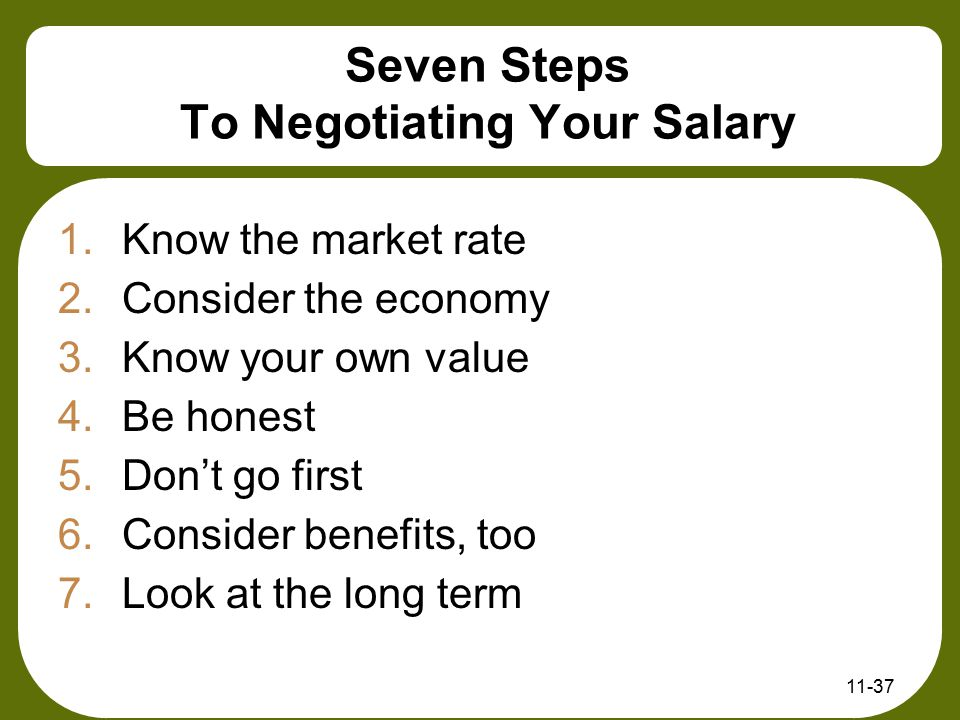 Seven Steps To Negotiating Your Salary