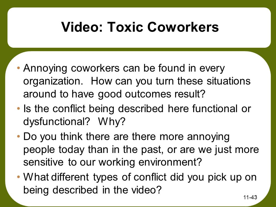 Video: Toxic Coworkers