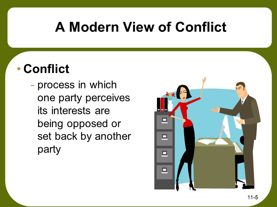 A Modern View of Conflict