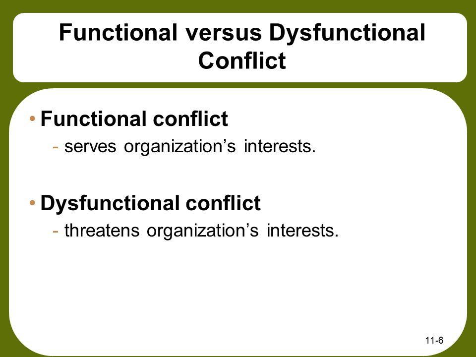 Functional versus Dysfunctional Conflict