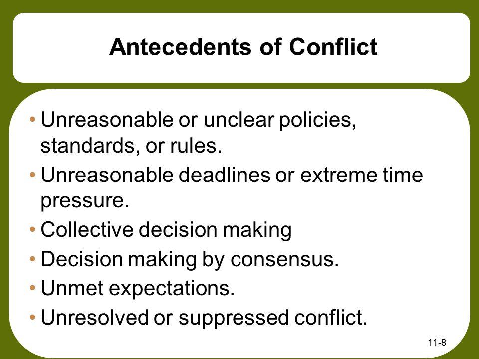 Antecedents of Conflict