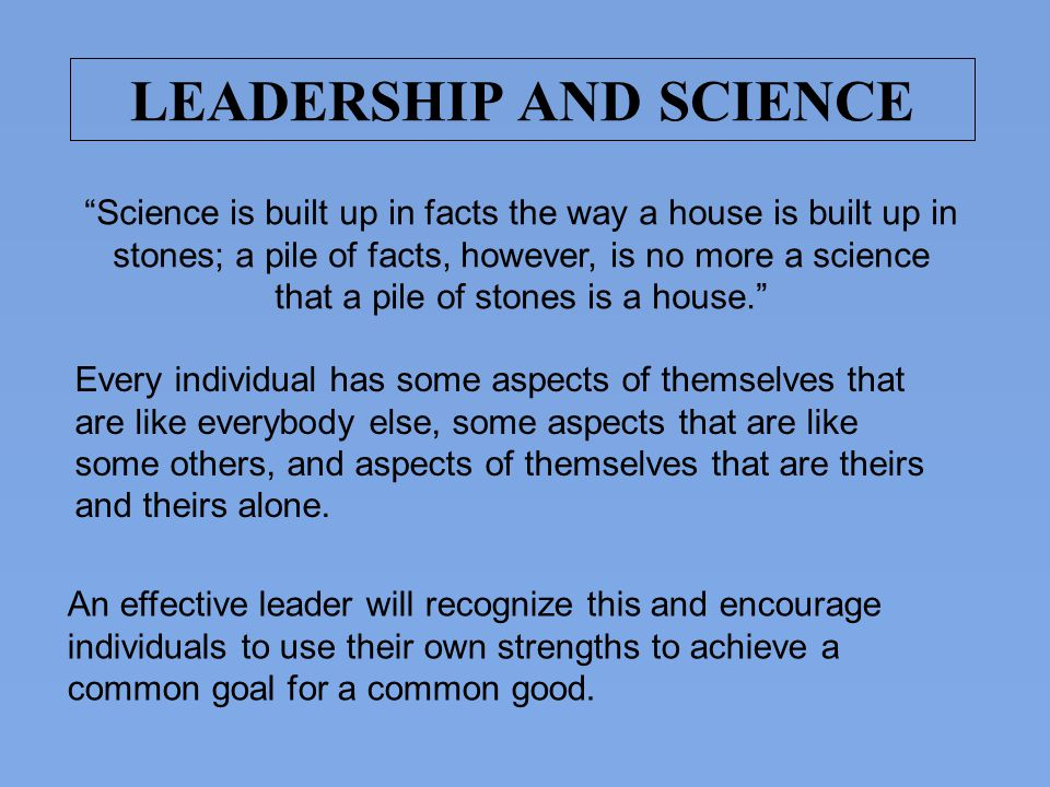 LEADERSHIP AND SCIENCE