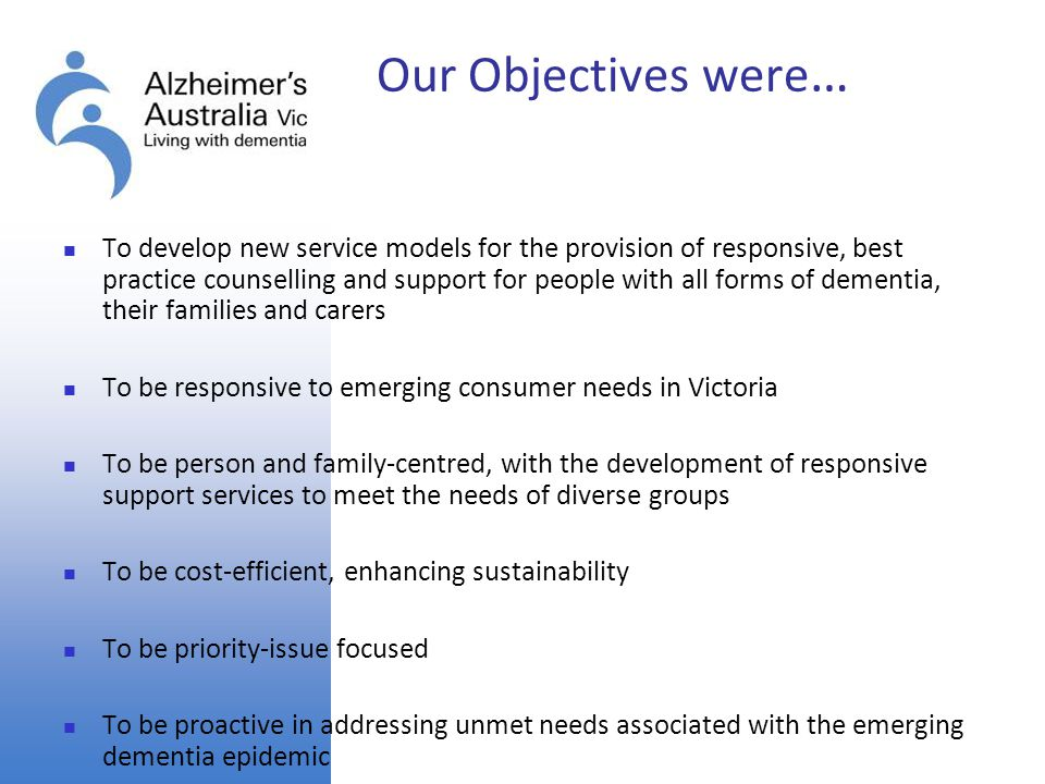 Our Objectives were…