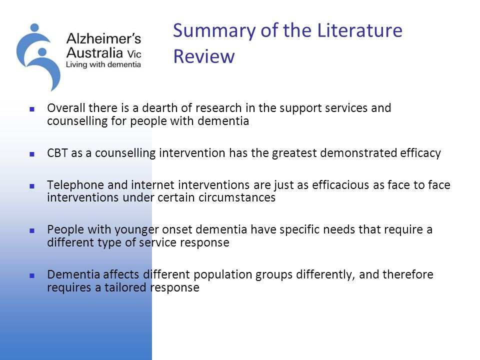 Summary of the Literature Review