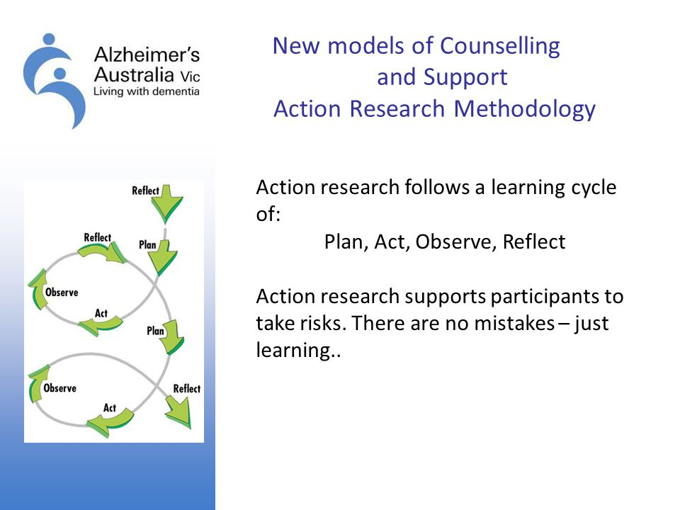 New models of Counselling and Support Action Research Methodology
