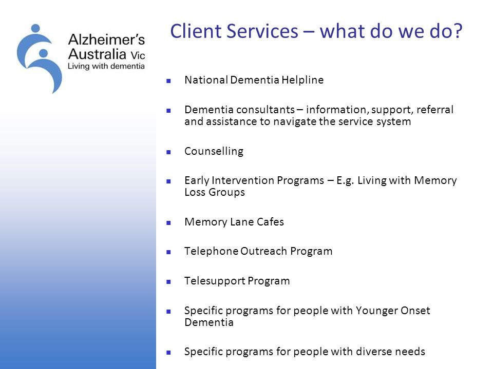 Client Services – what do we do