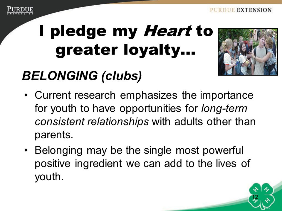 I pledge my Heart to greater loyalty…