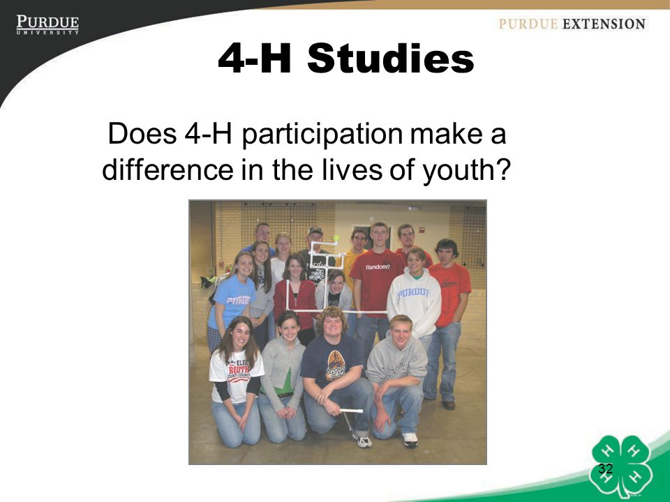 Does 4-H participation make a difference in the lives of youth