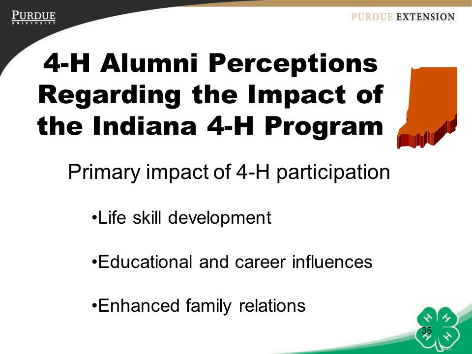 4-H Alumni Perceptions Regarding the Impact of the Indiana 4-H Program