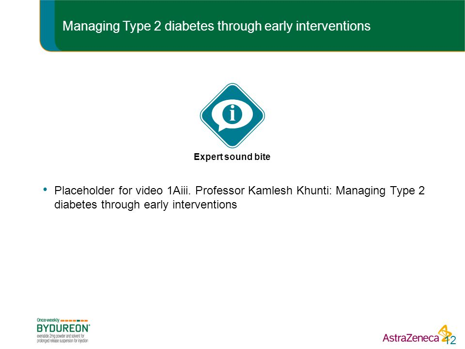 Managing Type 2 diabetes through early interventions