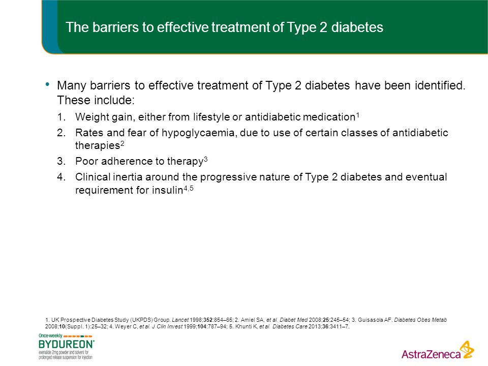 The barriers to effective treatment of Type 2 diabetes