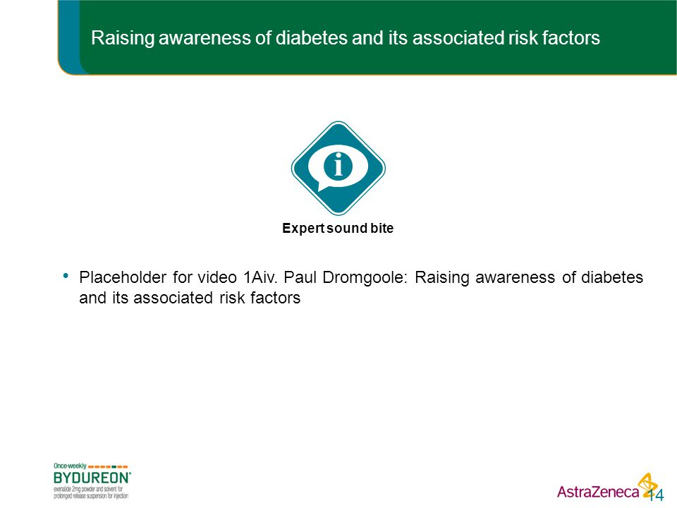 Raising awareness of diabetes and its associated risk factors