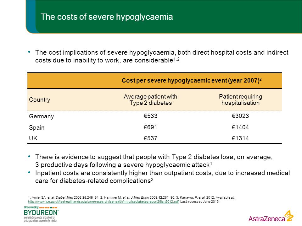 The costs of severe hypoglycaemia