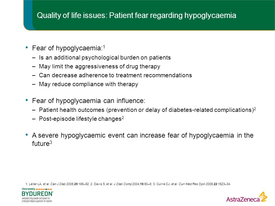 Quality of life issues: Patient fear regarding hypoglycaemia