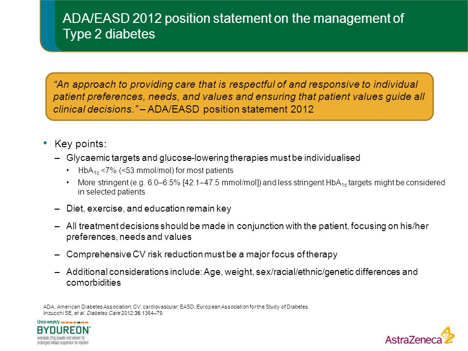 ADA/EASD 2012 position statement on the management of Type 2 diabetes