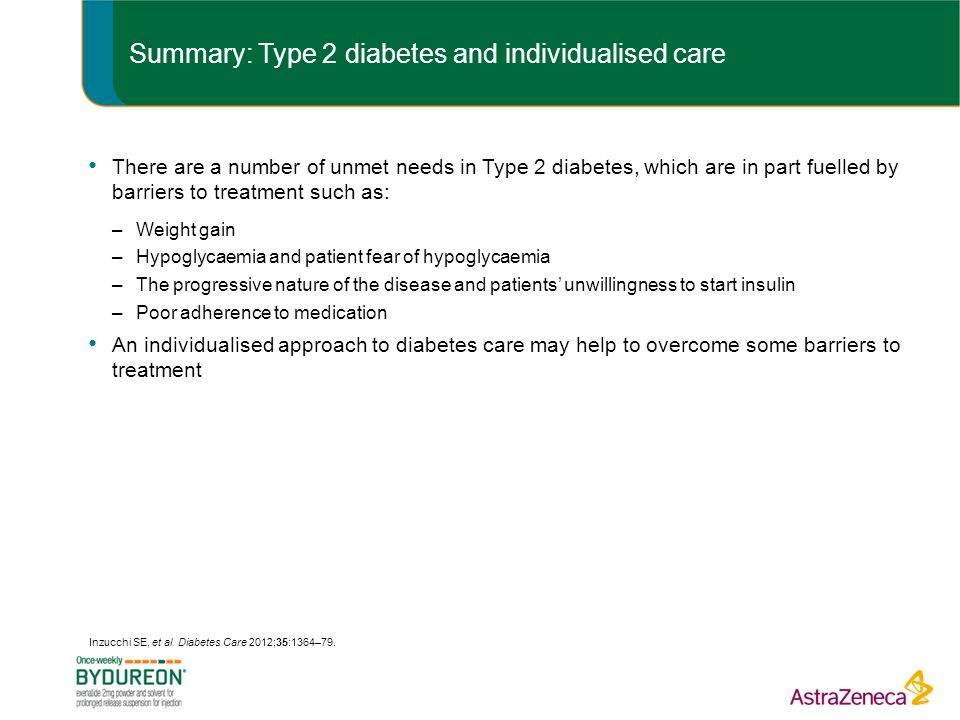 Summary: Type 2 diabetes and individualised care