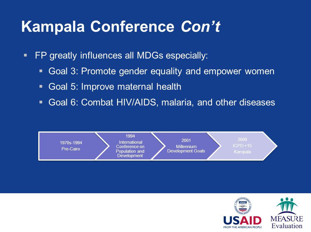 Kampala Conference Con't