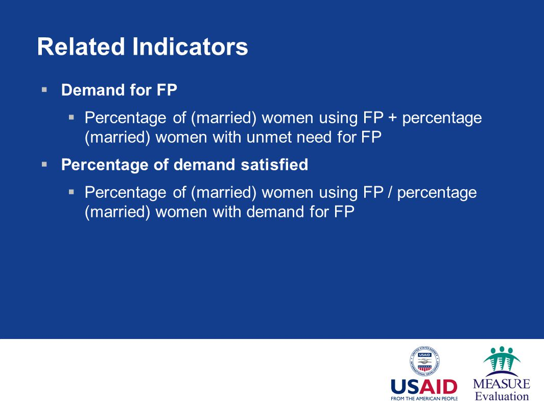 Related Indicators Demand for FP