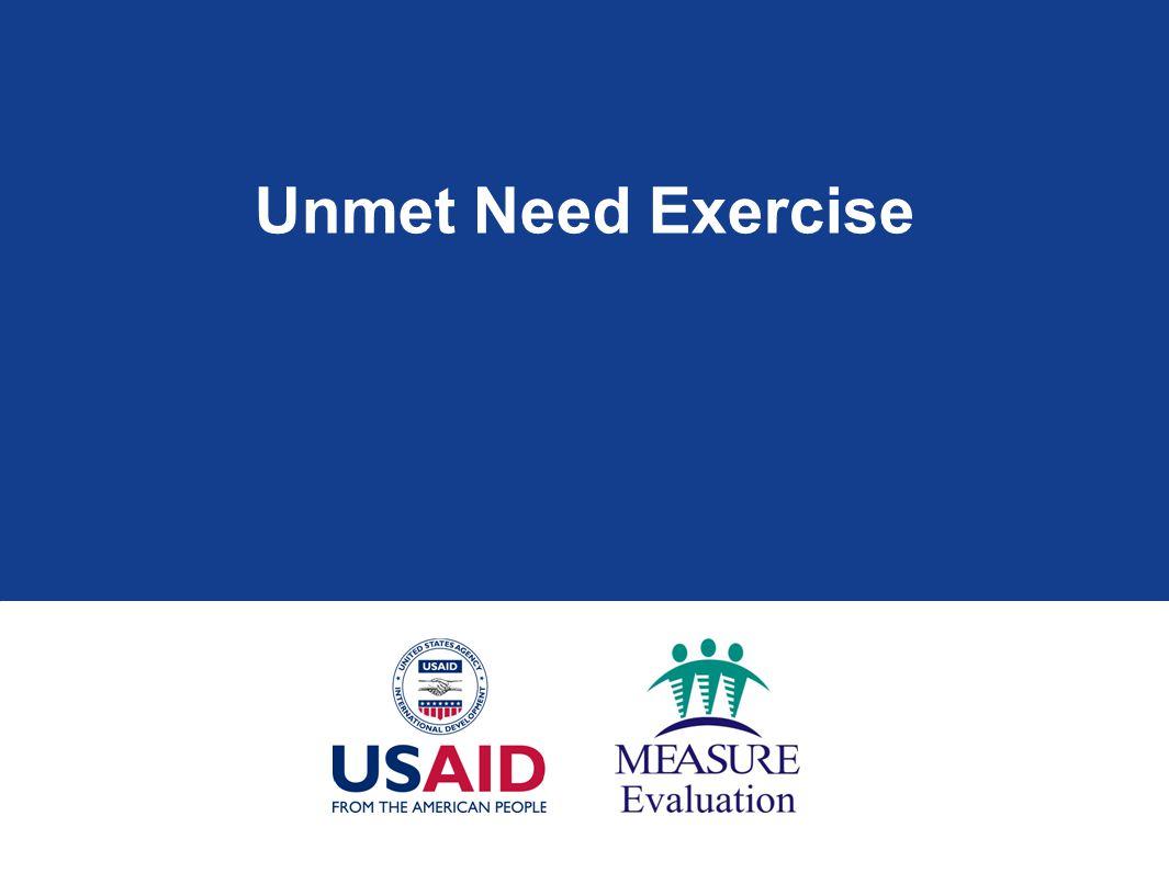 Unmet Need Exercise