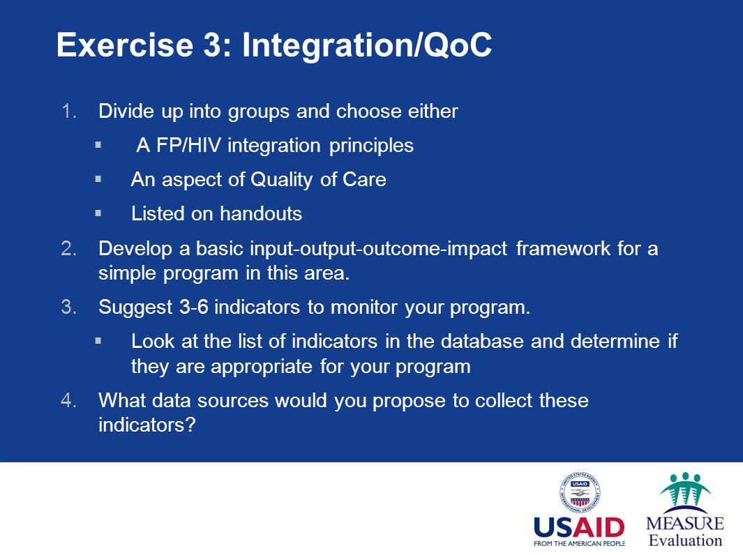 Exercise 3: Integration/QoC