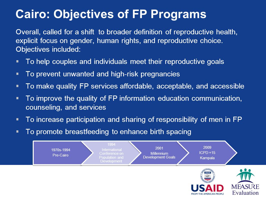 Cairo: Objectives of FP Programs