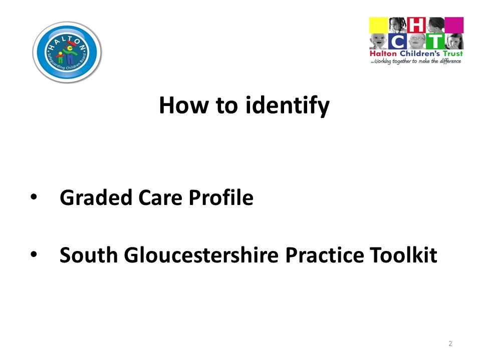 How to identify Graded Care Profile