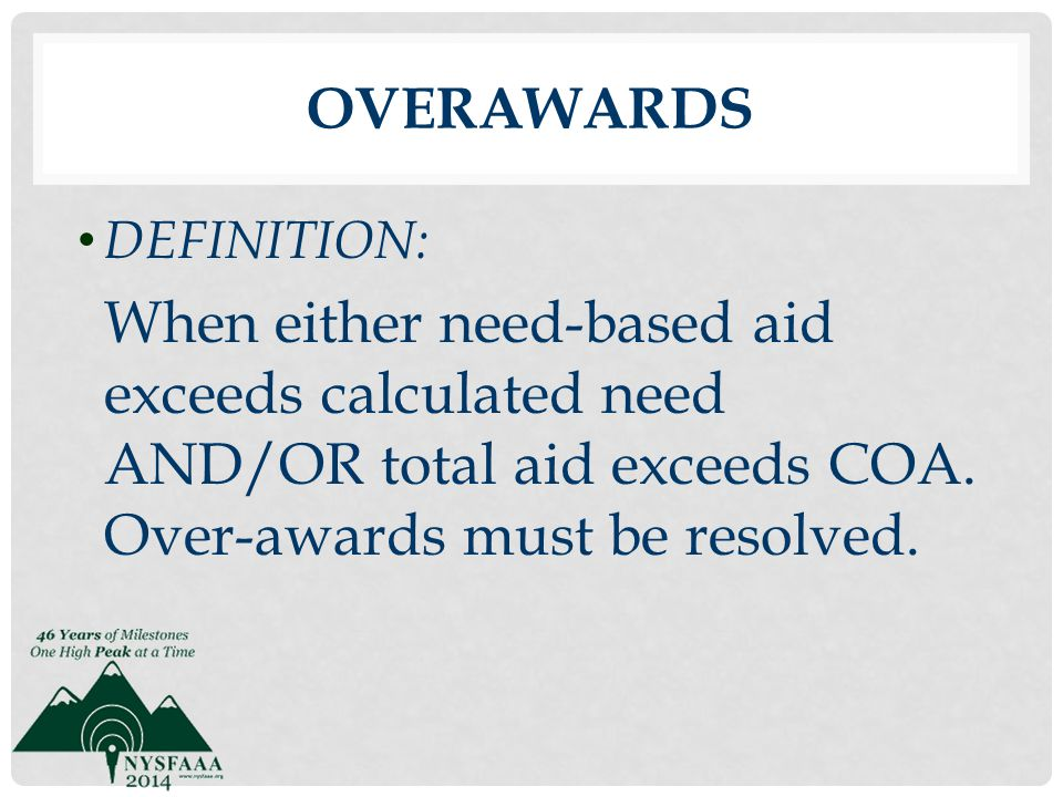 Overawards DEFINITION: