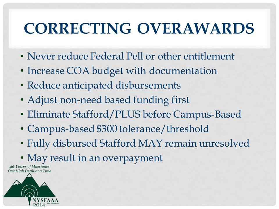 Correcting Overawards