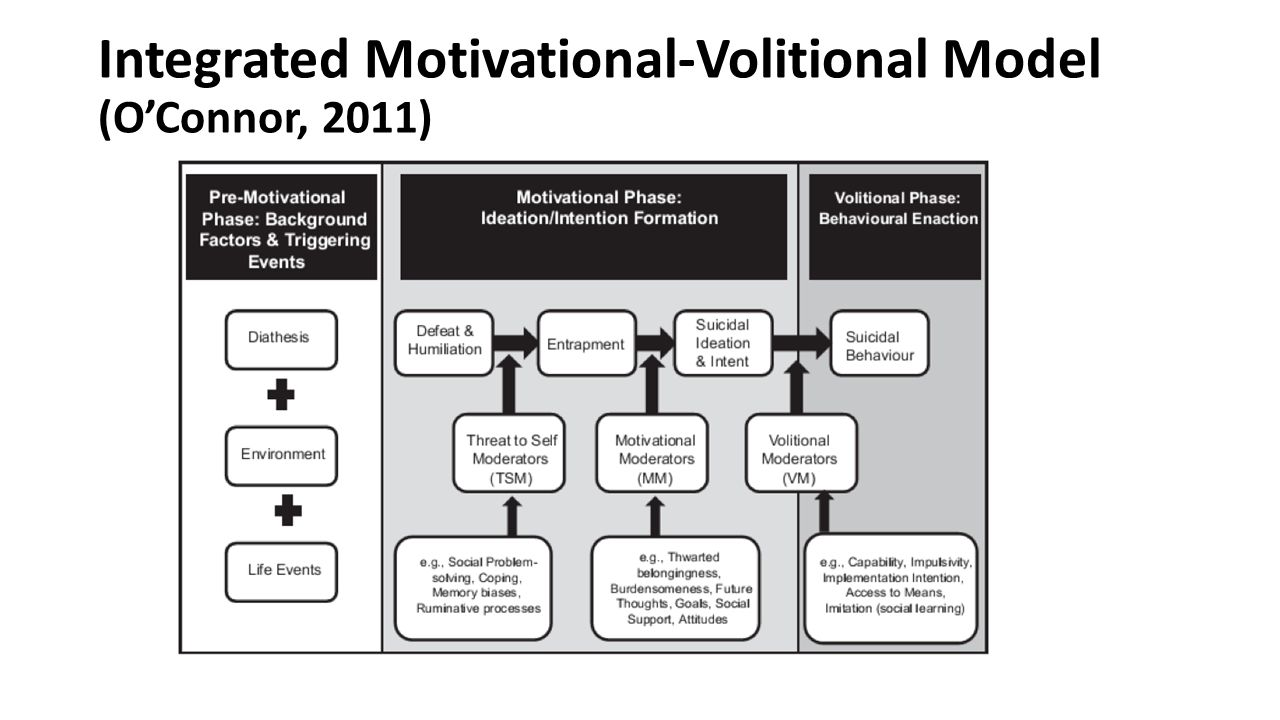 Integrated Motivational-Volitional Model (O'Connor, 2011)