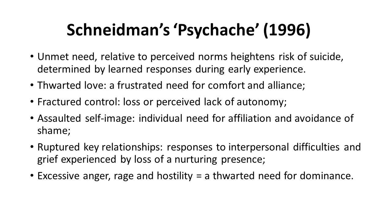 Schneidman's 'Psychache' (1996)