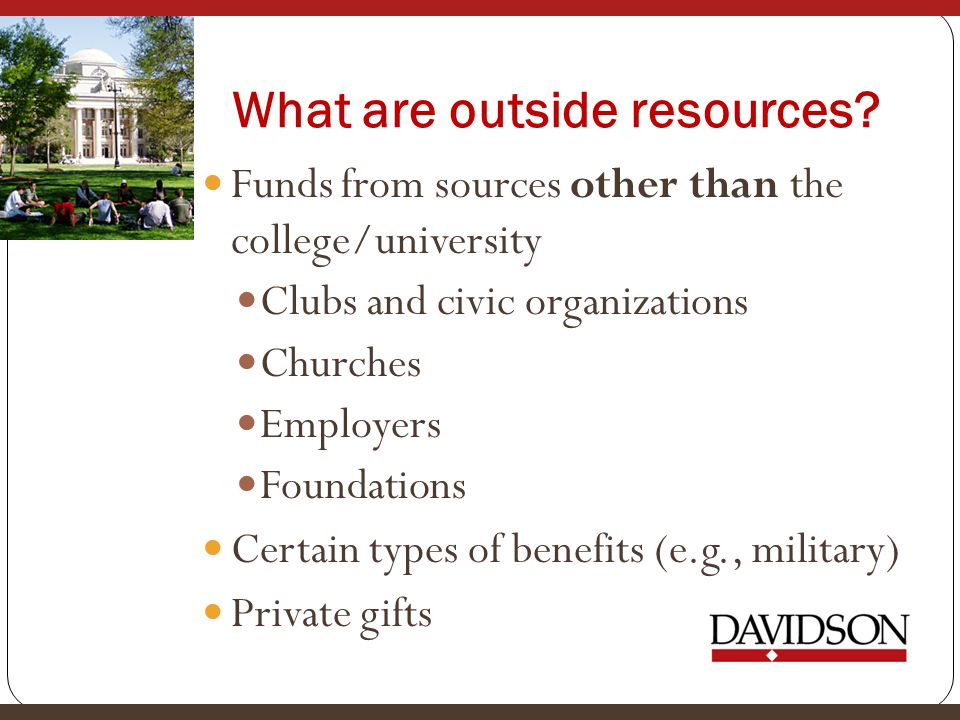 What are outside resources