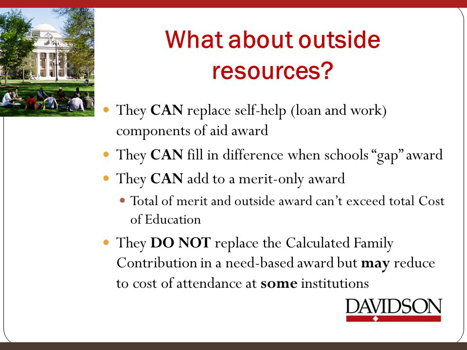 What about outside resources