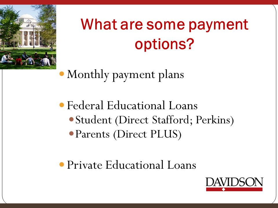 What are some payment options