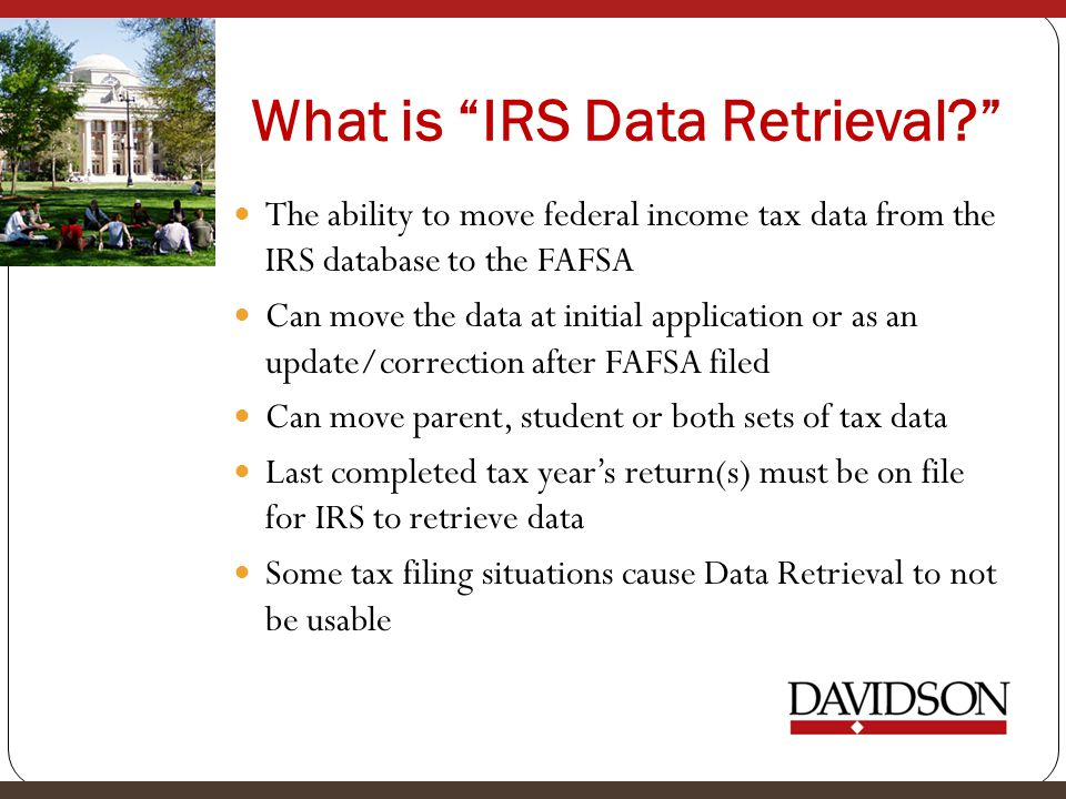What is IRS Data Retrieval