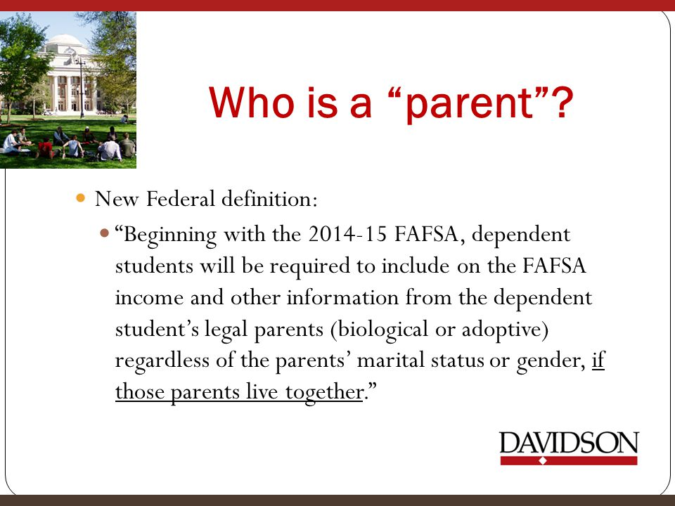 Who is a parent New Federal definition:
