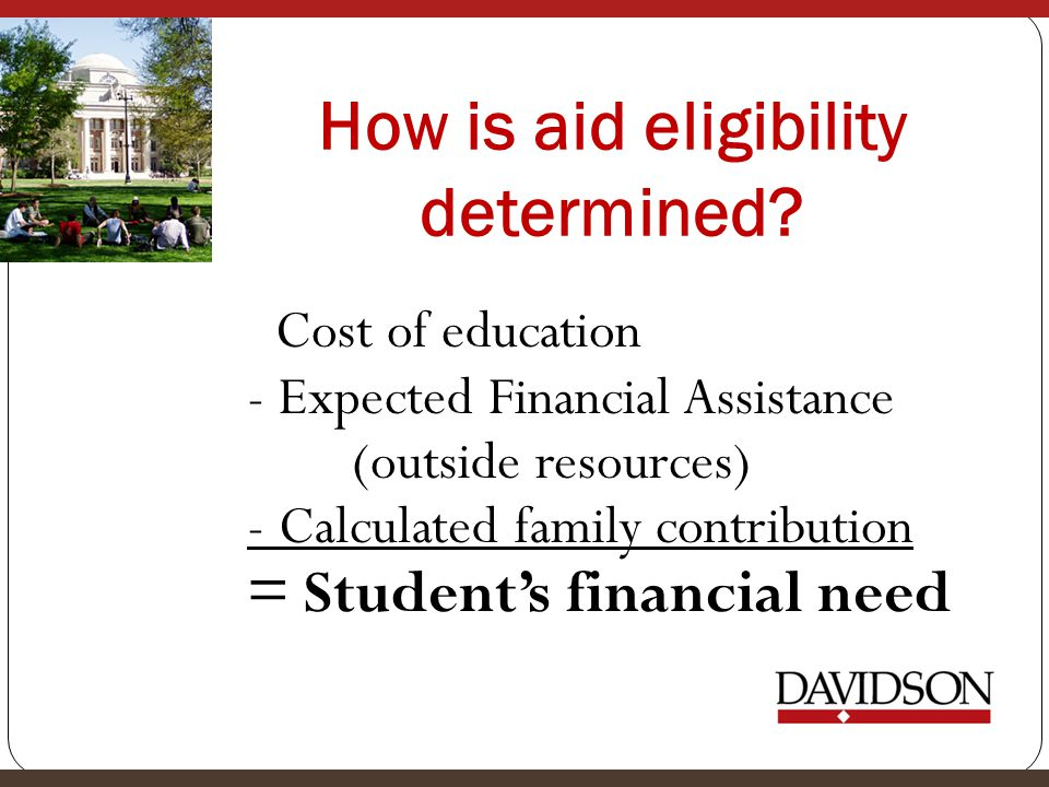 How is aid eligibility determined