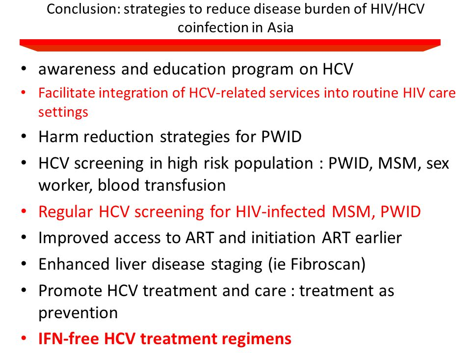 awareness and education program on HCV