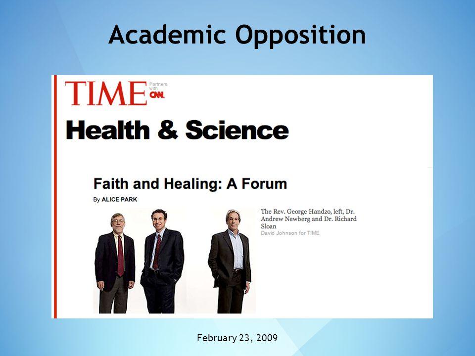 Academic Opposition February 23, 2009
