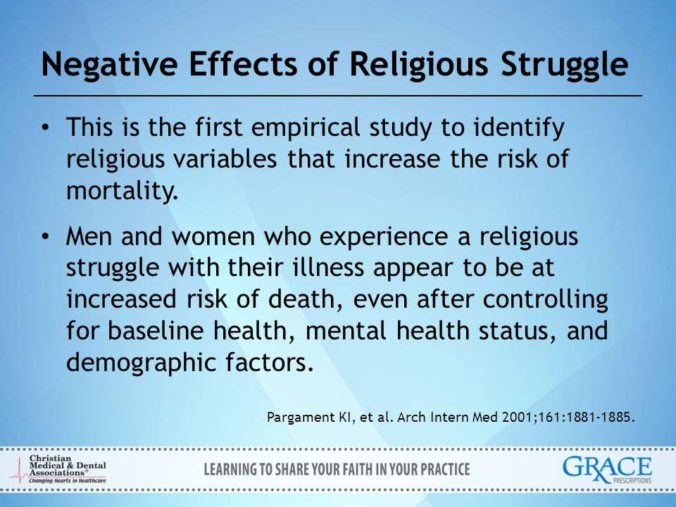 Negative Effects of Religious Struggle