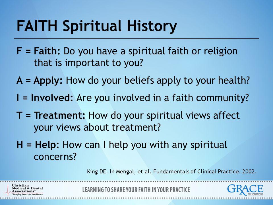 FAITH Spiritual History