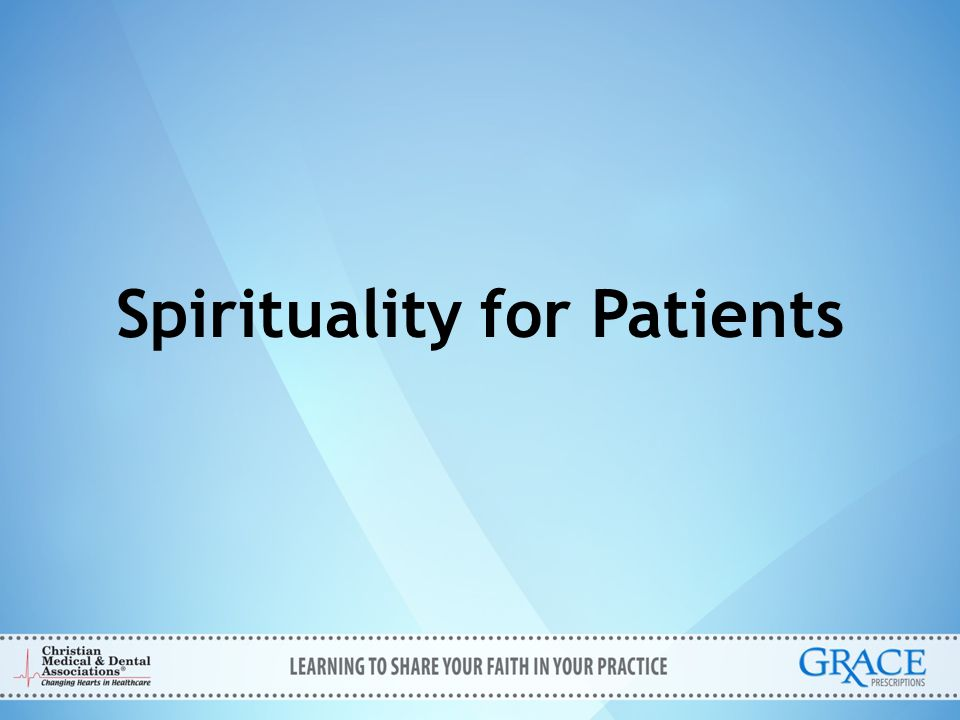 Spirituality for Patients